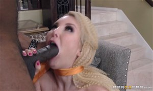 Blonde is fucking with ebony fellow