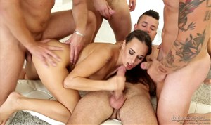 Group sex with a beautiful girl