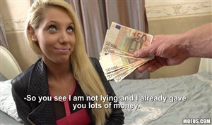 Hot blonde fucks for money
