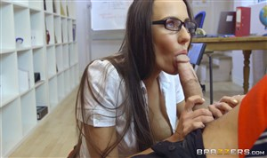 Student takes a big dick