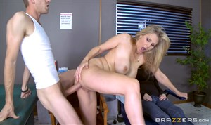 Mature nurse gets fucked by huge cock