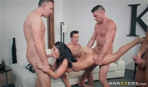 Group sex with Adriana Chechik