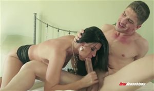 Brunette MILF India Summer gets drilled by huge cock