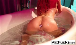 Alix is horny in the bath tub