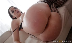 Chanel Preston in fishnet stockings takes hard anal pounding deeply