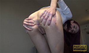 Redhead whore gets her pussy fucked rough and hard
