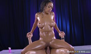 Anya Ivy covered in oil fucked by Xander Corvus