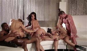 Orgy with three girls