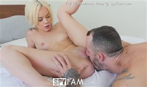Beautiful stepsister Elsa Jean licked and fucked