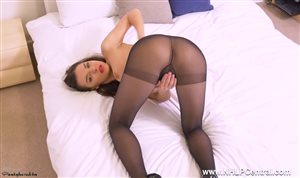 Russian girl in pantyhose
