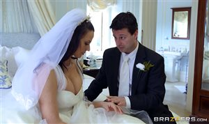 Busty bride Simony Diamond gets her ass fucked by huge cock