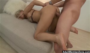 Blondie gets a good pounding from behind