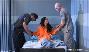 Lily Lane and Johnny Sins have fun in prison sex